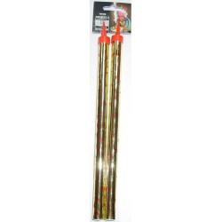 Świeczka GOLD 2szt. /25cm